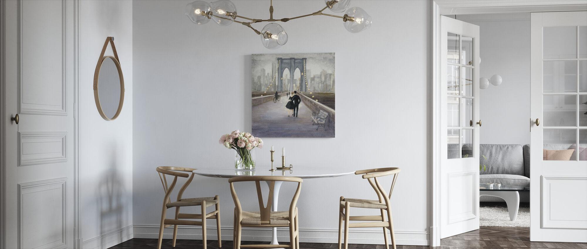 Bridge to New York - Canvas print - Kitchen