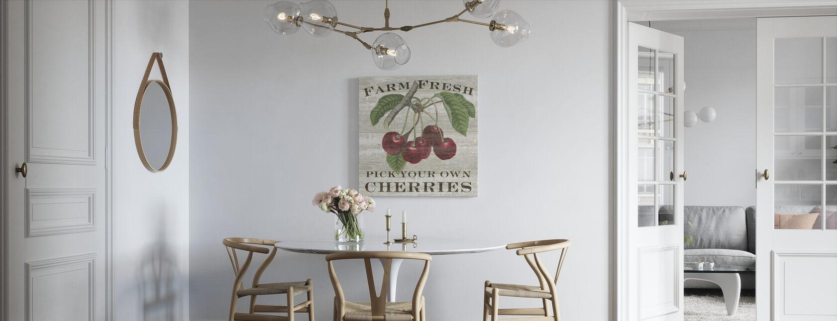Farm Fresh Cherries - Canvas print - Kitchen