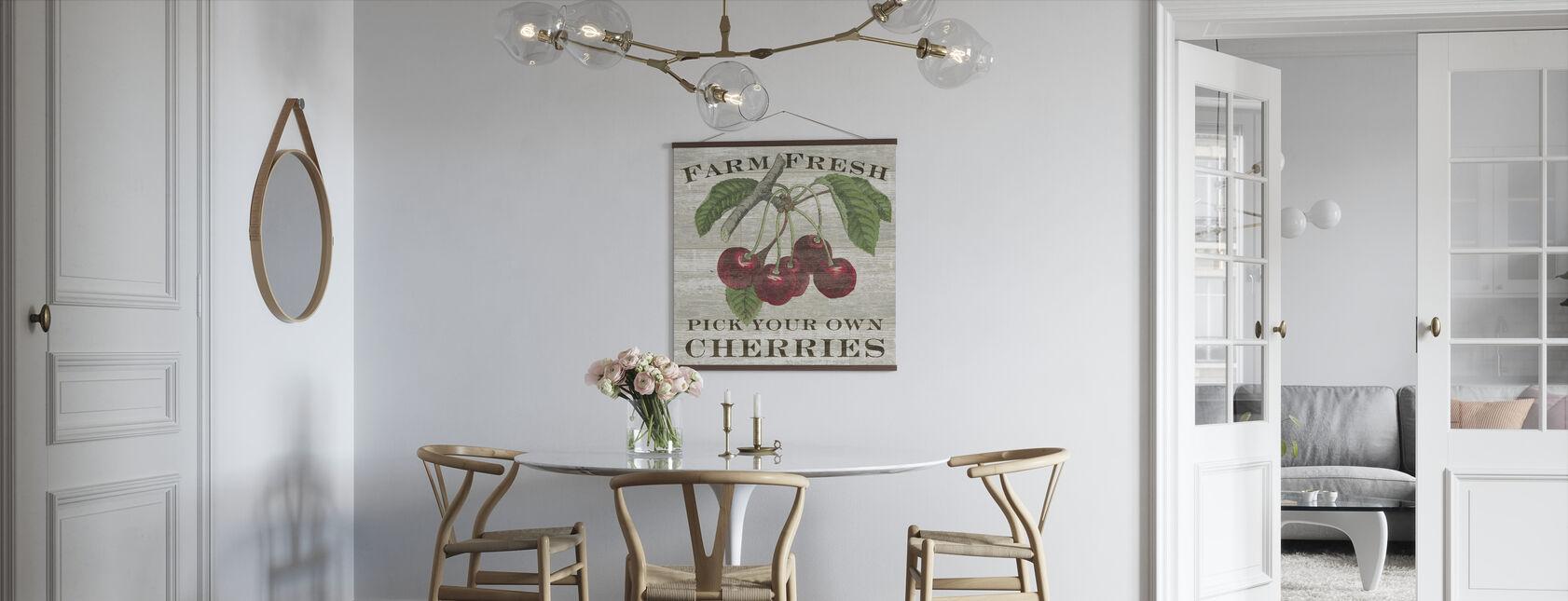 Bauernhof Frische Kirschen - Poster - Küchen