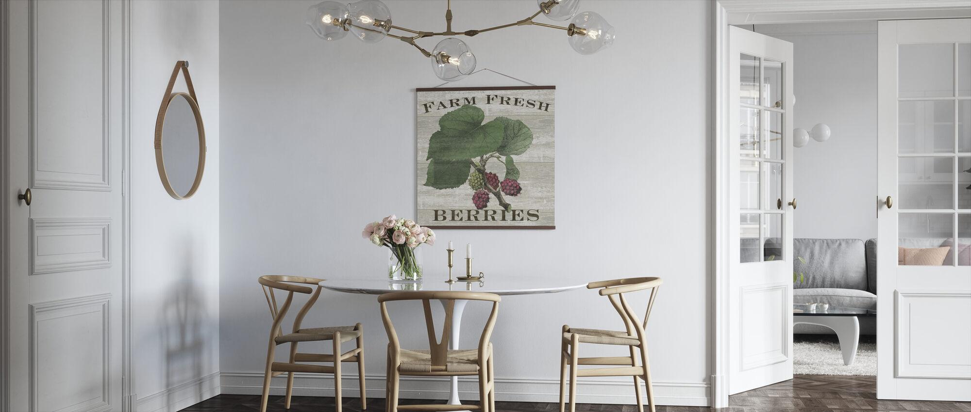 Boerderij verse frambozen - Poster - Keuken