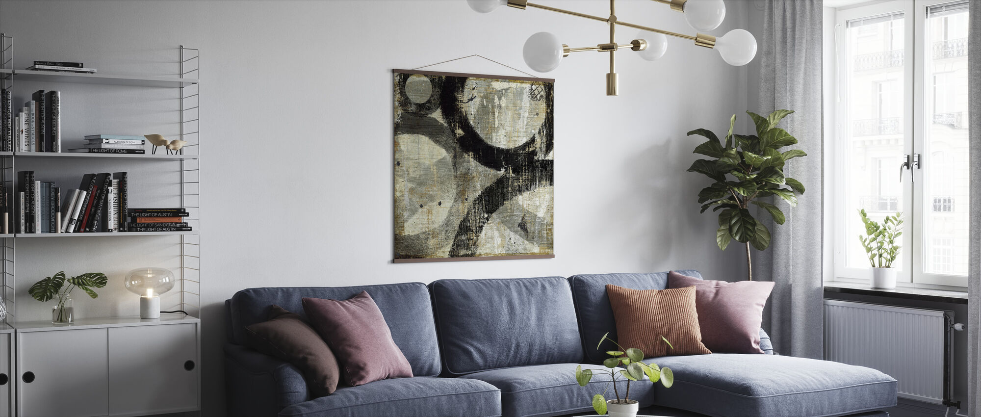 Geometric Abstract I - Poster - Living Room