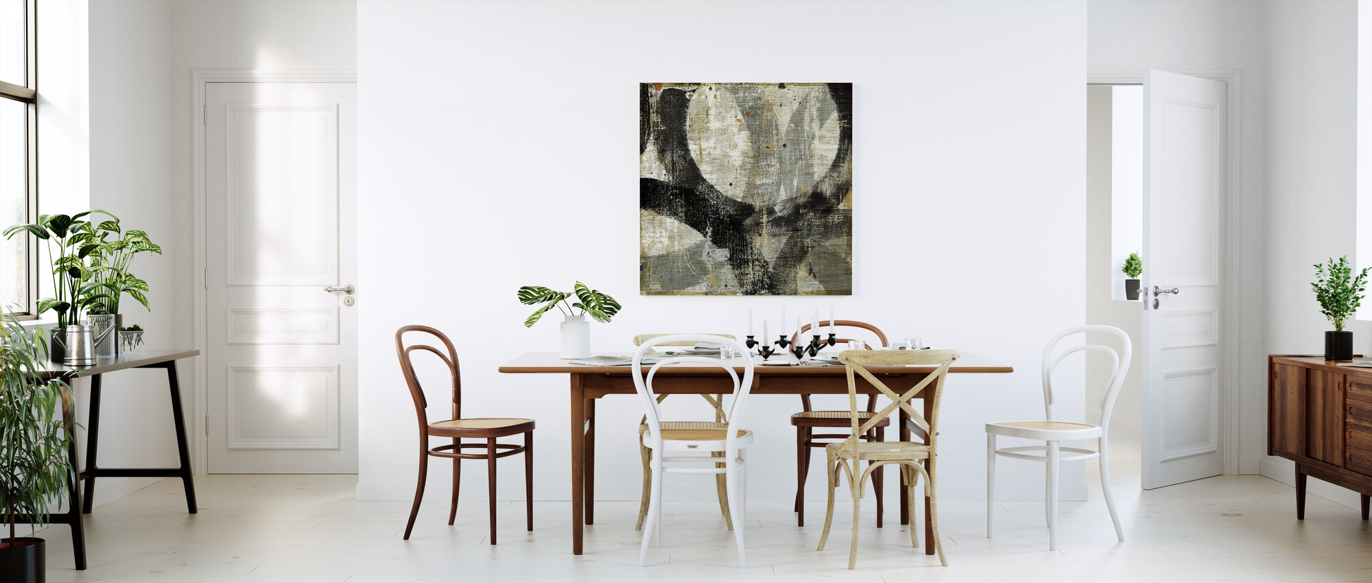 Geometric Abstract II - Canvas print - Kitchen