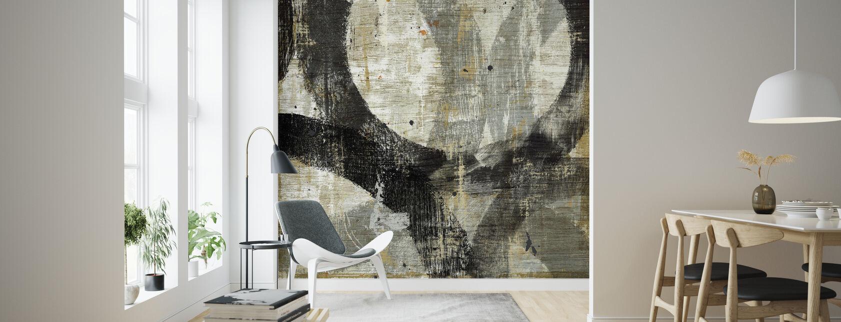 Geometric Abstract II - Wallpaper - Living Room