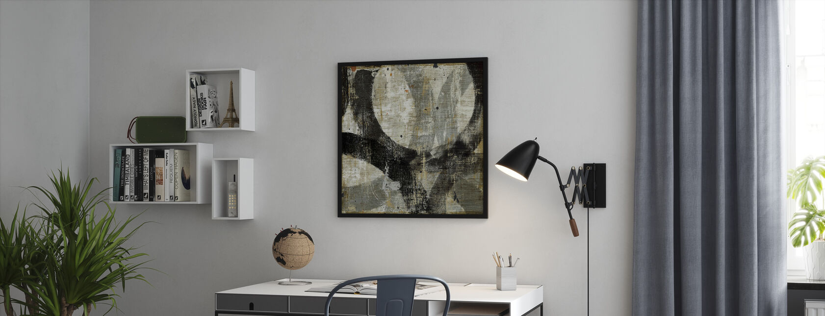 Geometric Abstract II - Framed print - Office