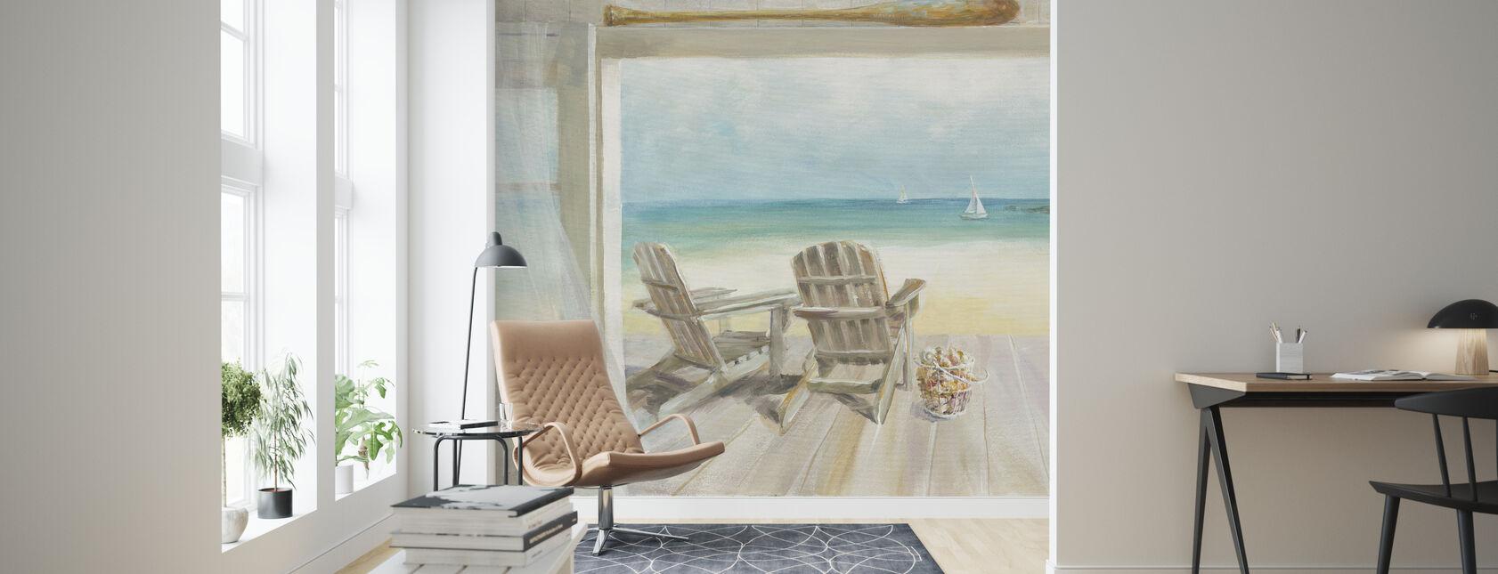 Seaside Morning - Wallpaper - Living Room