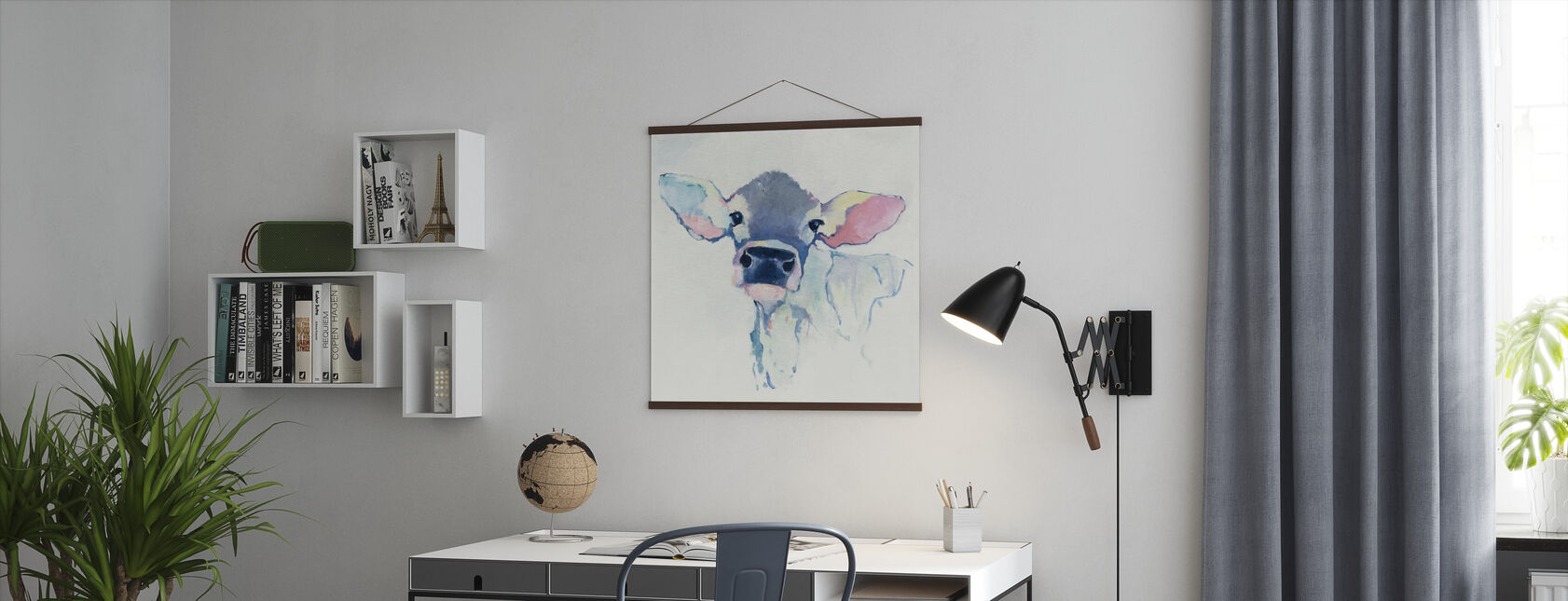 Watercolor Cow - Poster - Office
