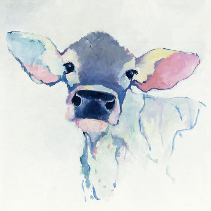 Watercolor Cow Made To Measure Canvas Print Photowall