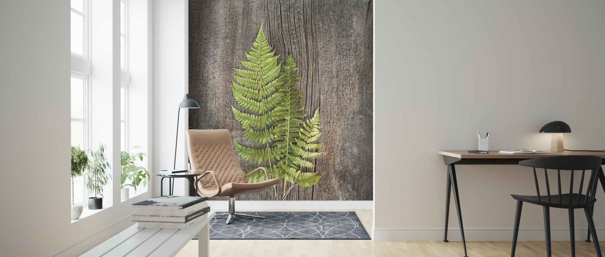 Woodland Fern - Wallpaper - Living Room