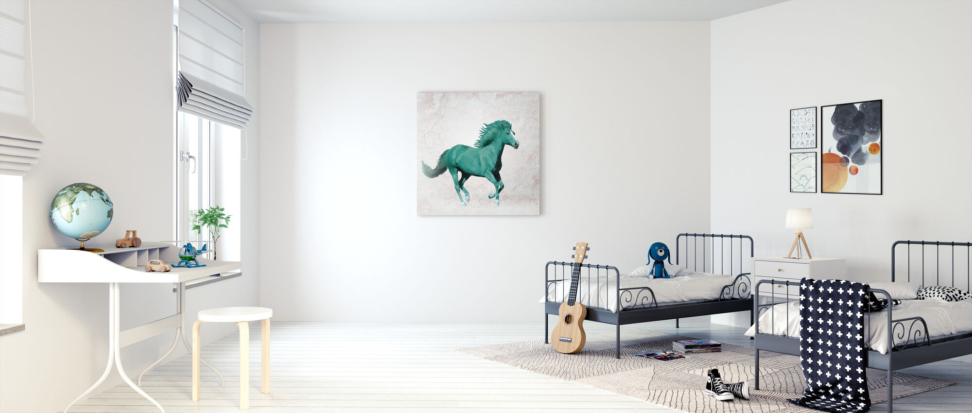 Polygon Horsy Crazy - Canvas print - Kids Room