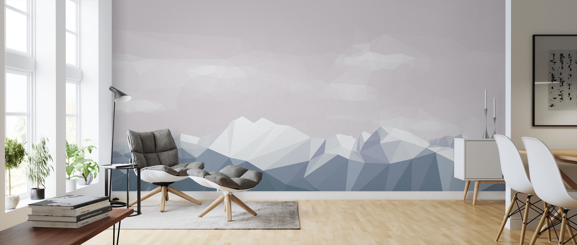 Mostly Mountains Chilly - Wallpaper - Living Room