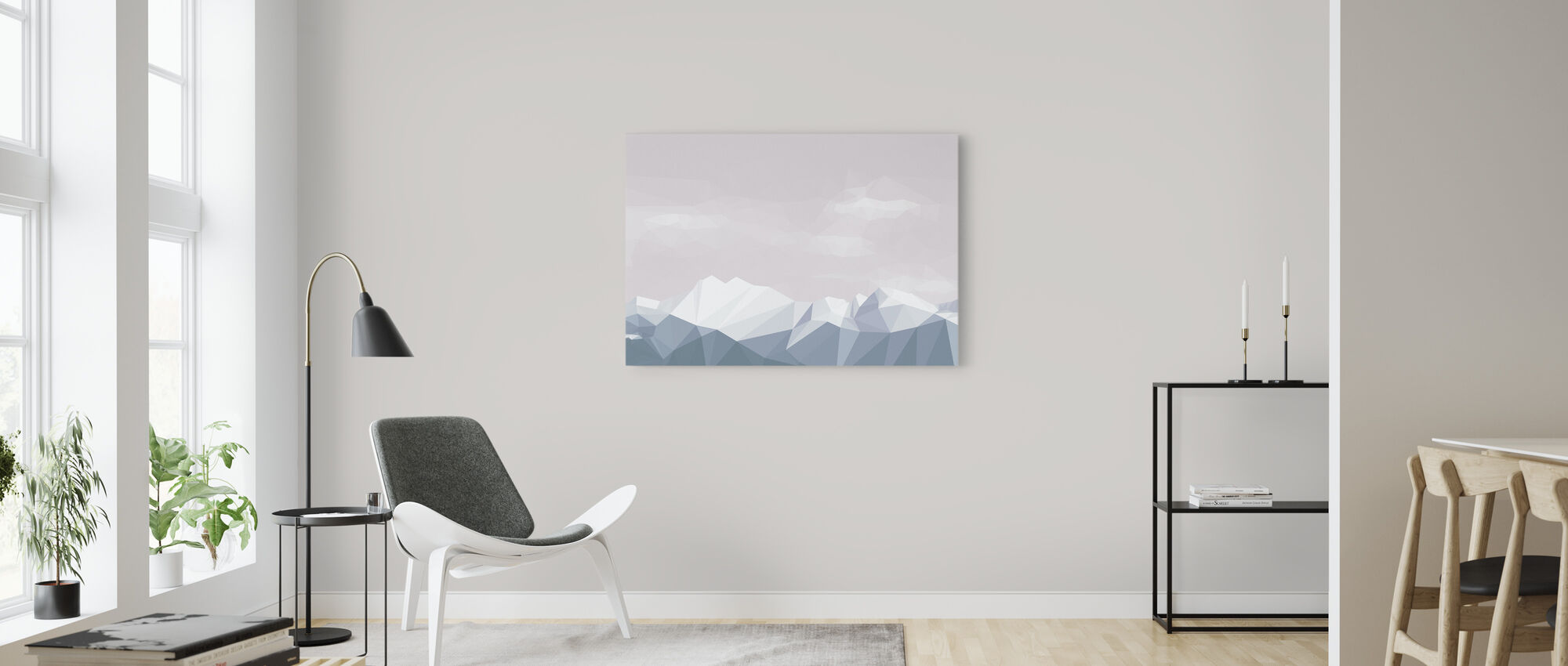 Mostly Mountains Chilly - Canvas print - Living Room