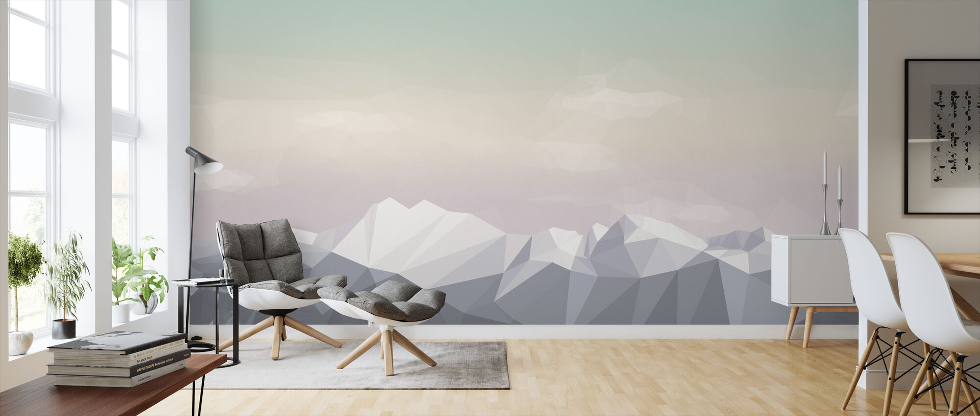 Mostly Mountains Icecream - Wallpaper - Living Room