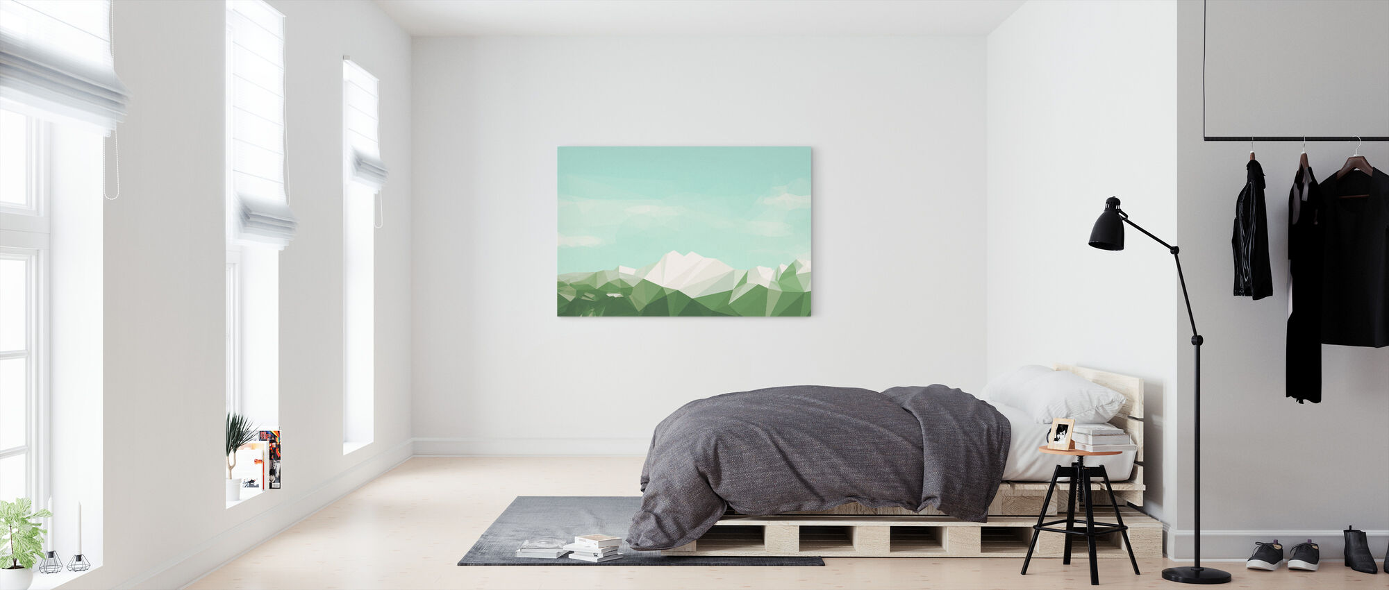 Mostly Mountains Summer - Canvas print - Bedroom
