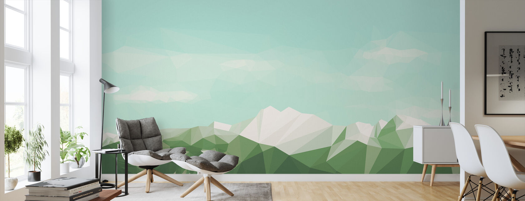 Mostly Mountains Summer - Wallpaper - Living Room