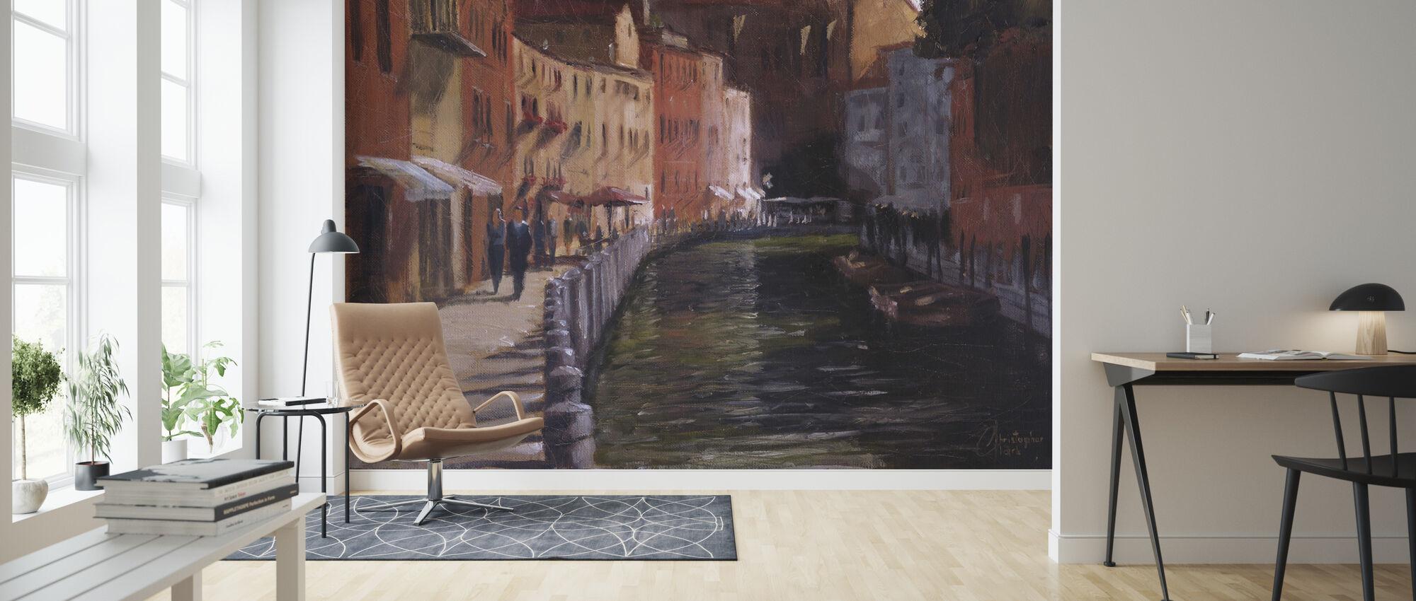 Le long du canal - Papier peint - Salle à manger