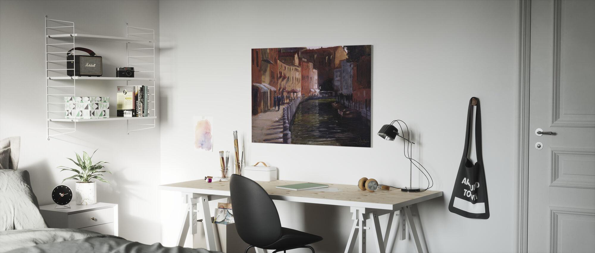 Langs het kanaal - Canvas print - Kinderkamer
