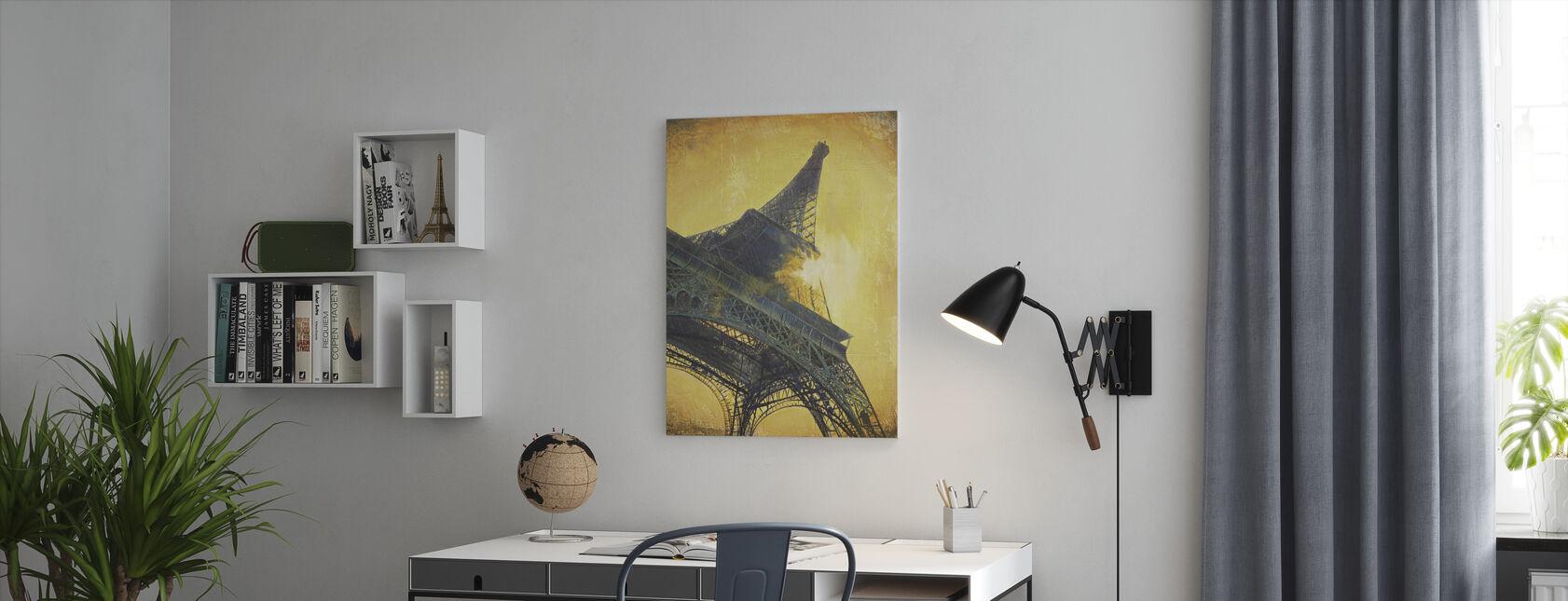 Parijs bij Sunset - Canvas print - Kantoor