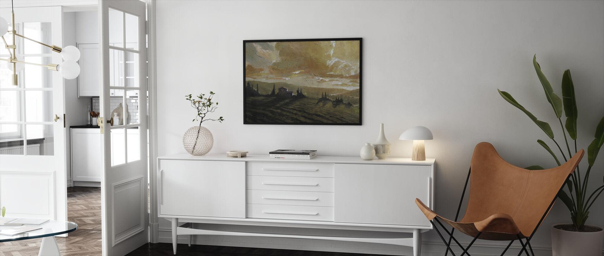 Toscanan hehku - Kehystetty kuva - Olohuone