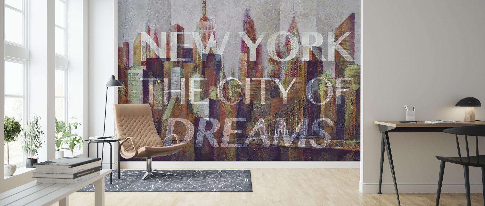 New York - Stad van Dromen - Behang - Woonkamer