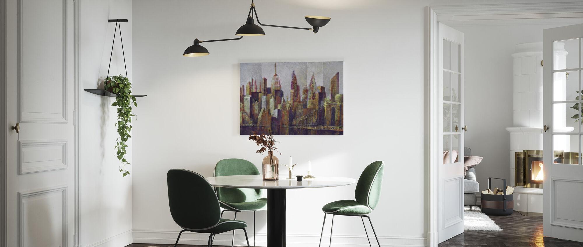New York Skyline Art - Canvastavla - Kök