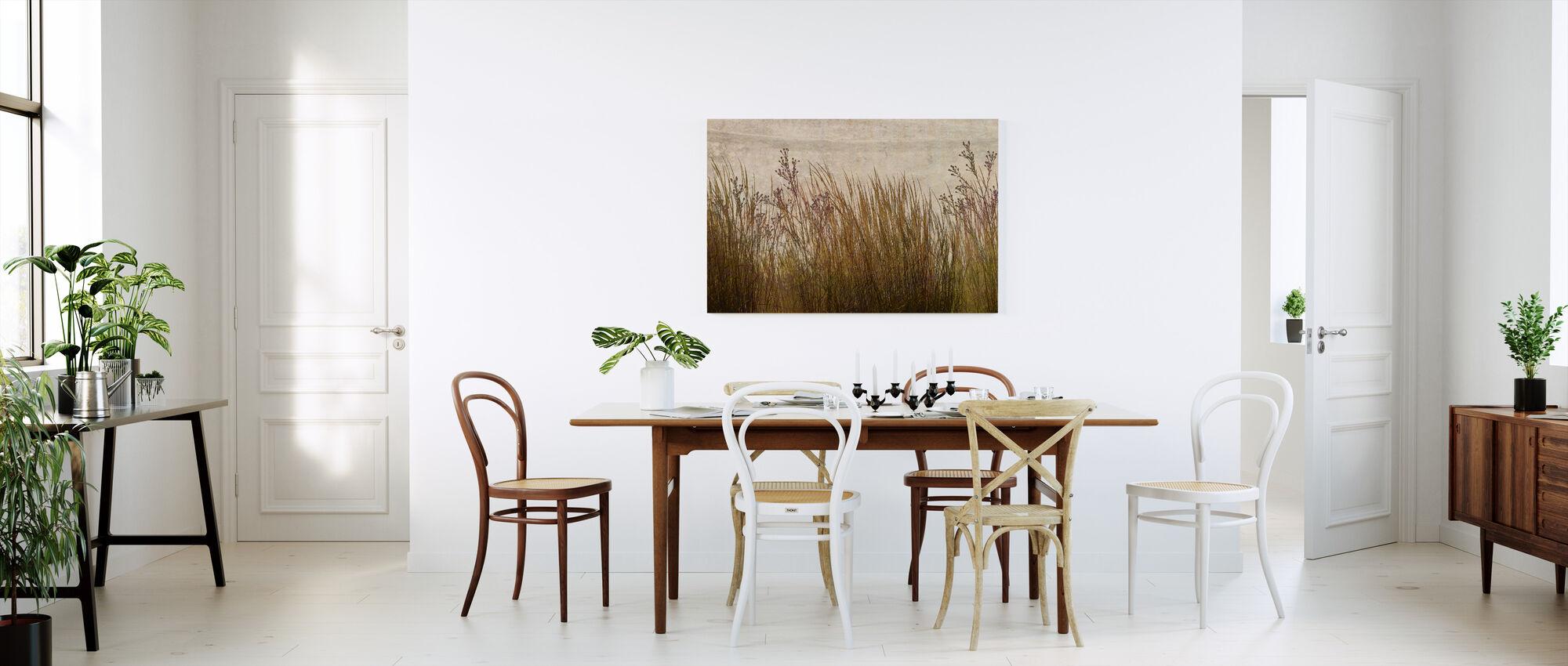 Messing Gras Silhouet - Canvas print - Keuken
