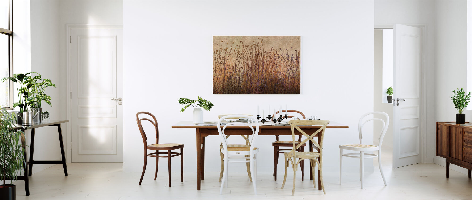 Copper Grass Silhouette - Canvas print - Kitchen