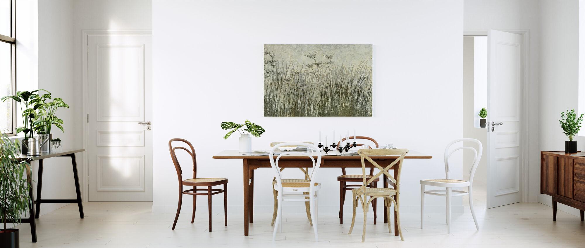 Dark Green Grass Silhouette - Canvas print - Kitchen