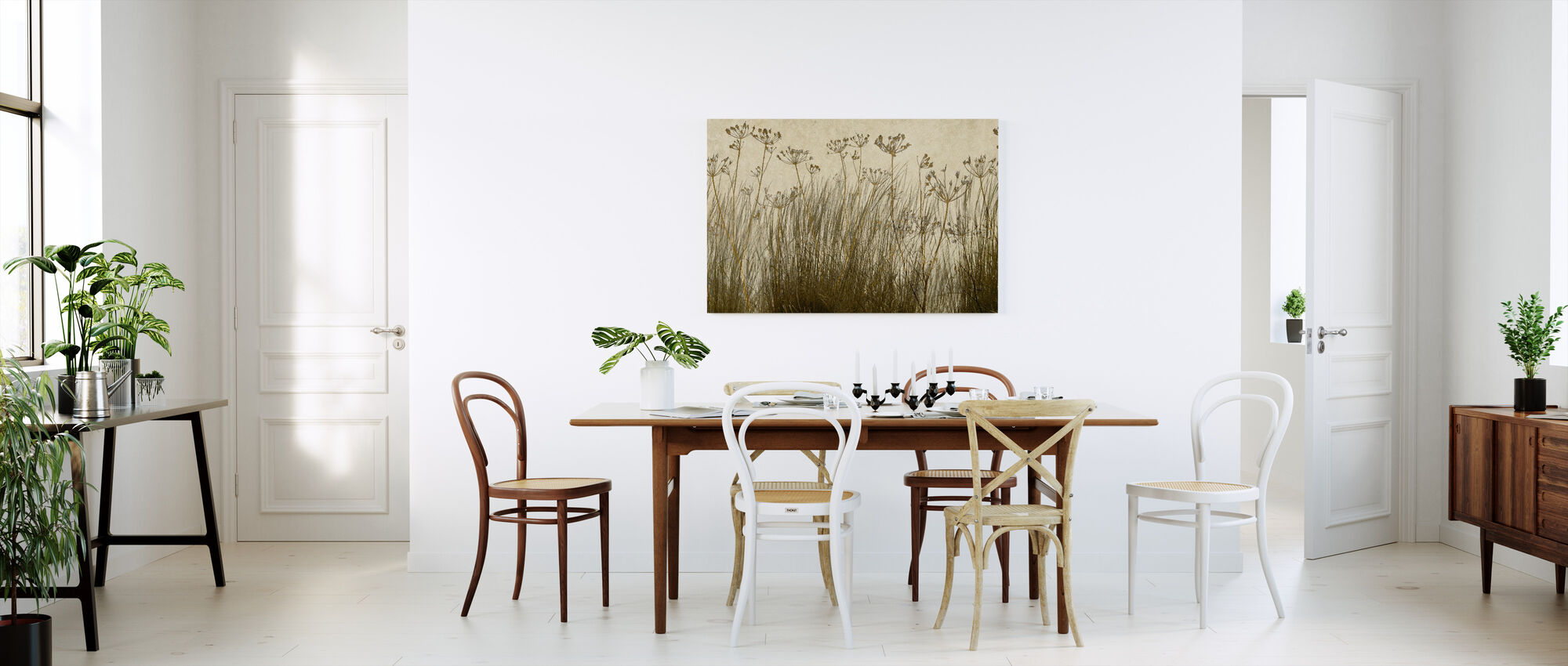 Golden Grass Silhouette - Canvas print - Kitchen