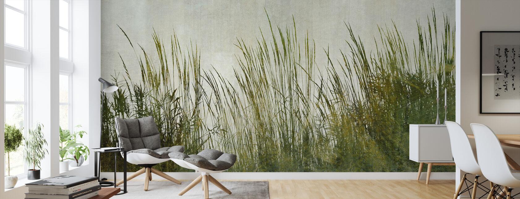Green Grass Silhouette - Wallpaper - Living Room
