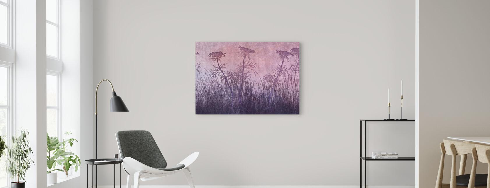 Purple Grass Silhouette - Canvas print - Living Room