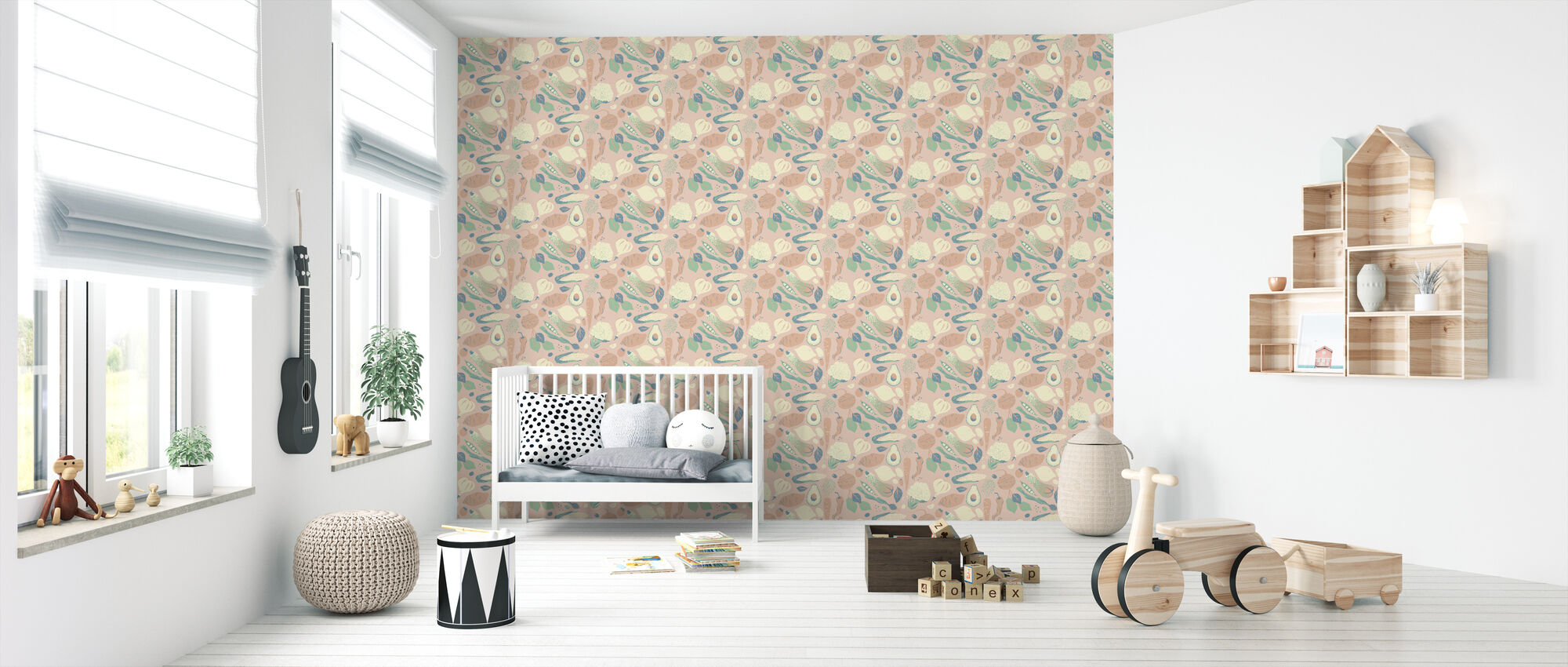 Greens Pink - Wallpaper - Nursery