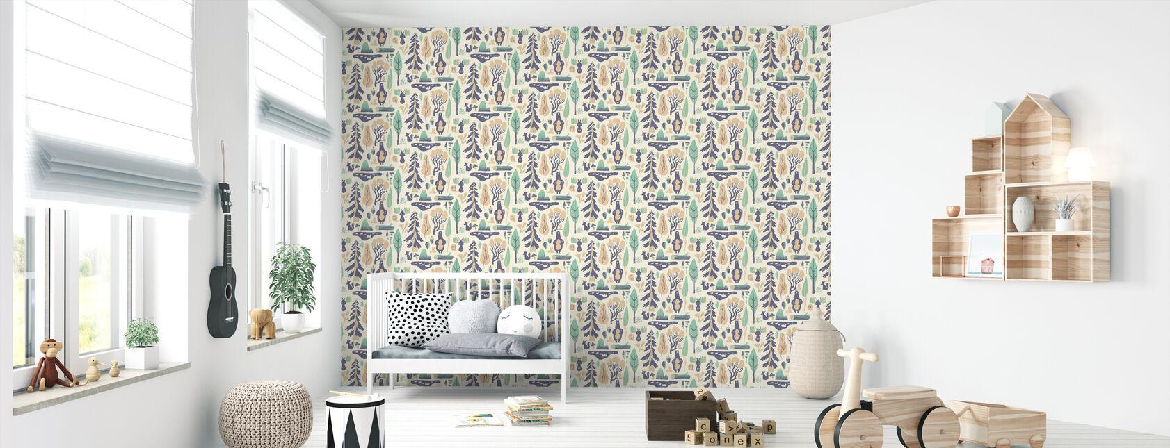 Woodland White - Wallpaper - Nursery