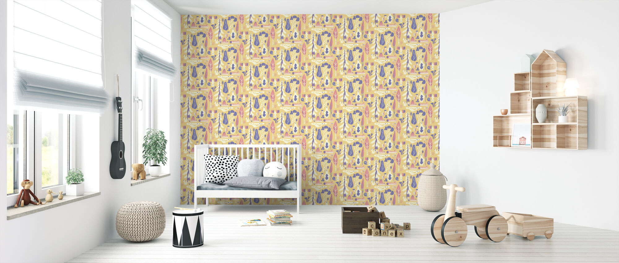 Woodland Yellow - Wallpaper - Nursery