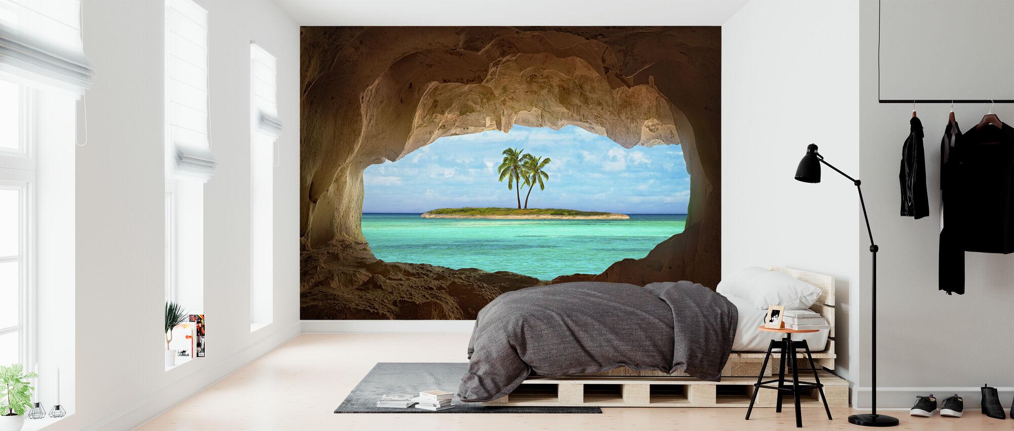 Paradise through Window - Wallpaper - Bedroom