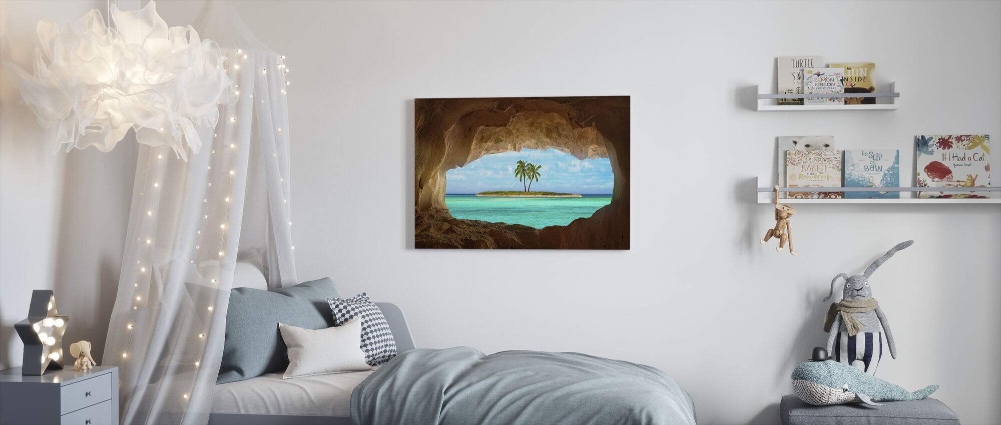Paradise through Window - Canvas print - Kids Room