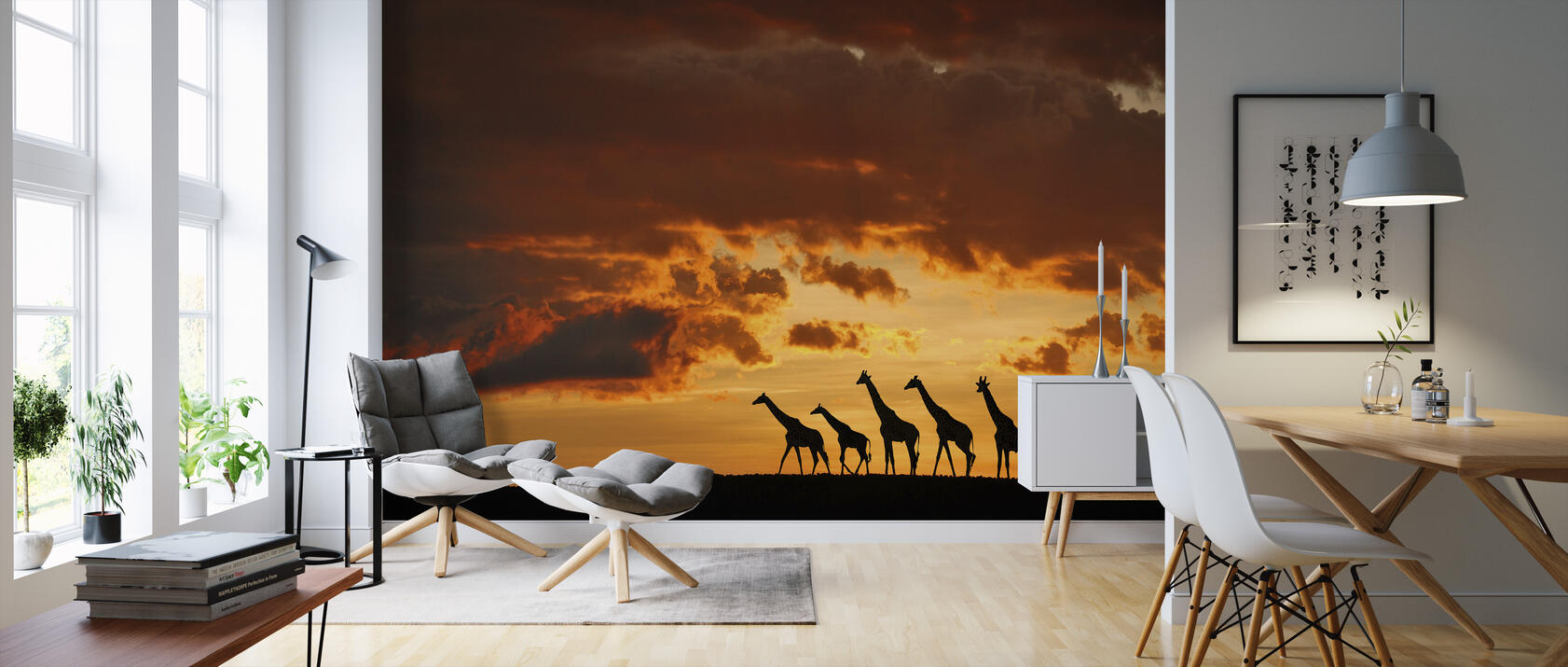 five giraffes eine fototapete f r jeden raum photowall. Black Bedroom Furniture Sets. Home Design Ideas
