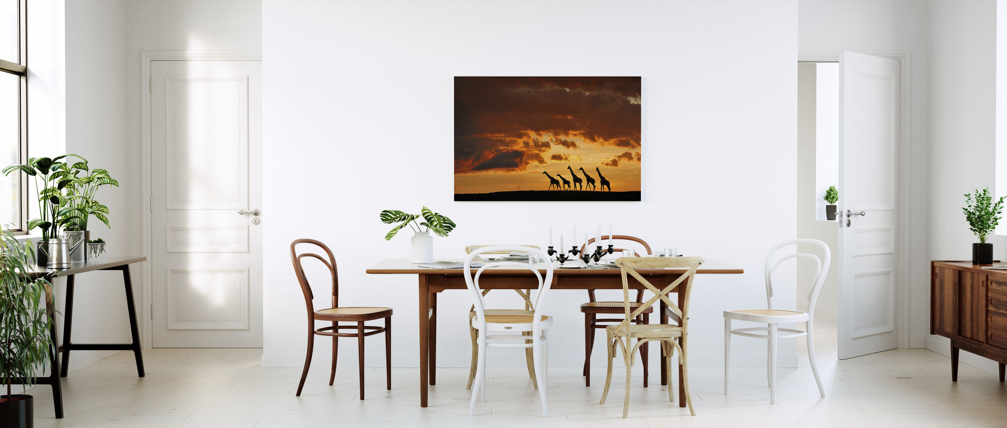 Five Giraffes - Canvas print - Kitchen