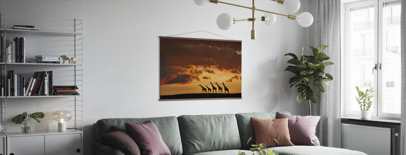 Five Giraffes - Poster - Living Room