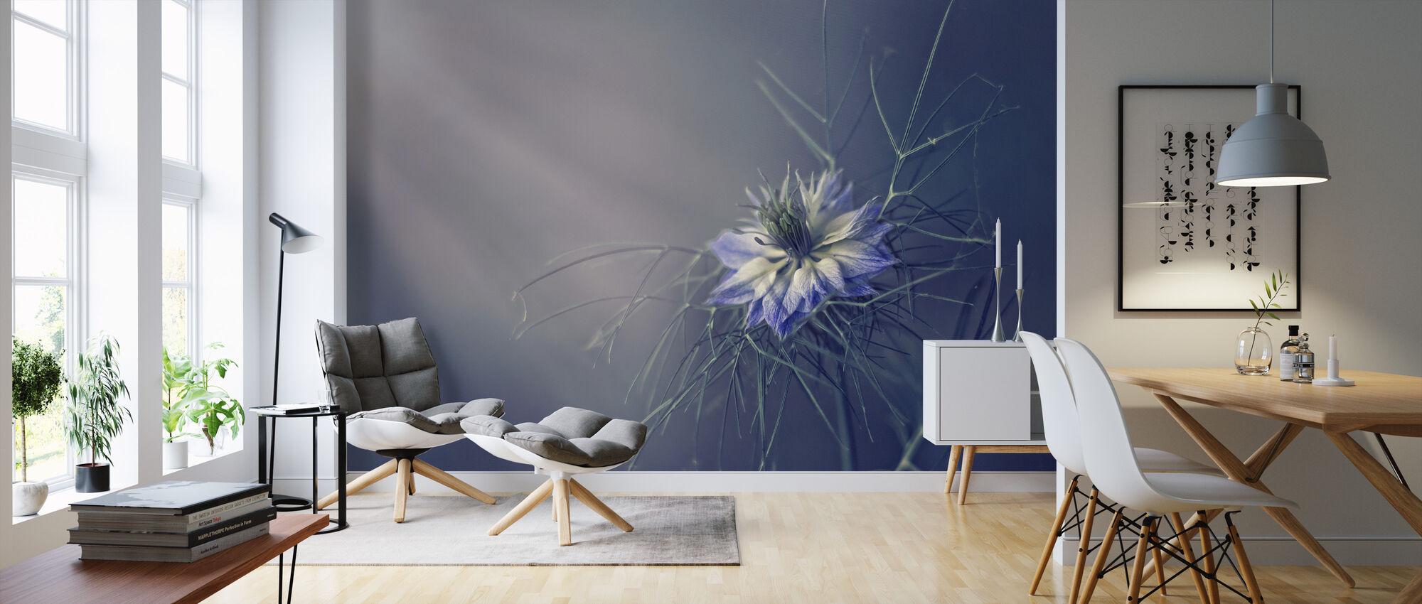 Prickly Blue - Wallpaper - Living Room