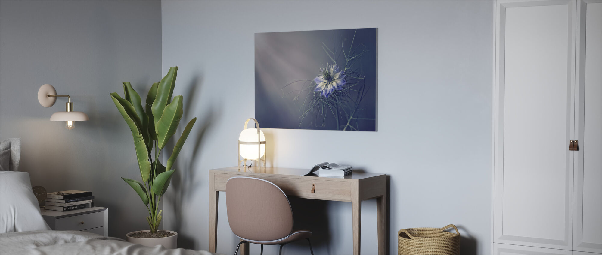 Prickly Blue - Canvas print - Office