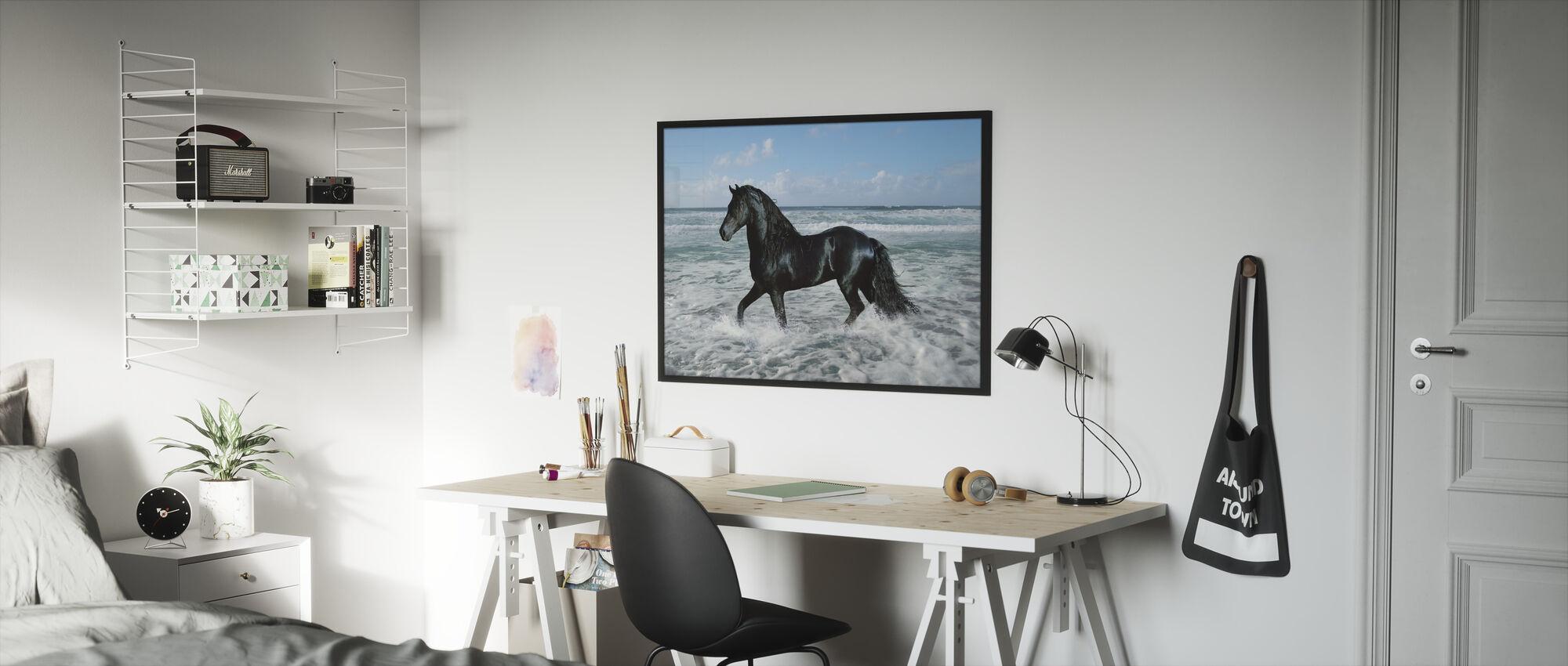 Hest Bading - Innrammet bilde - Barnerom