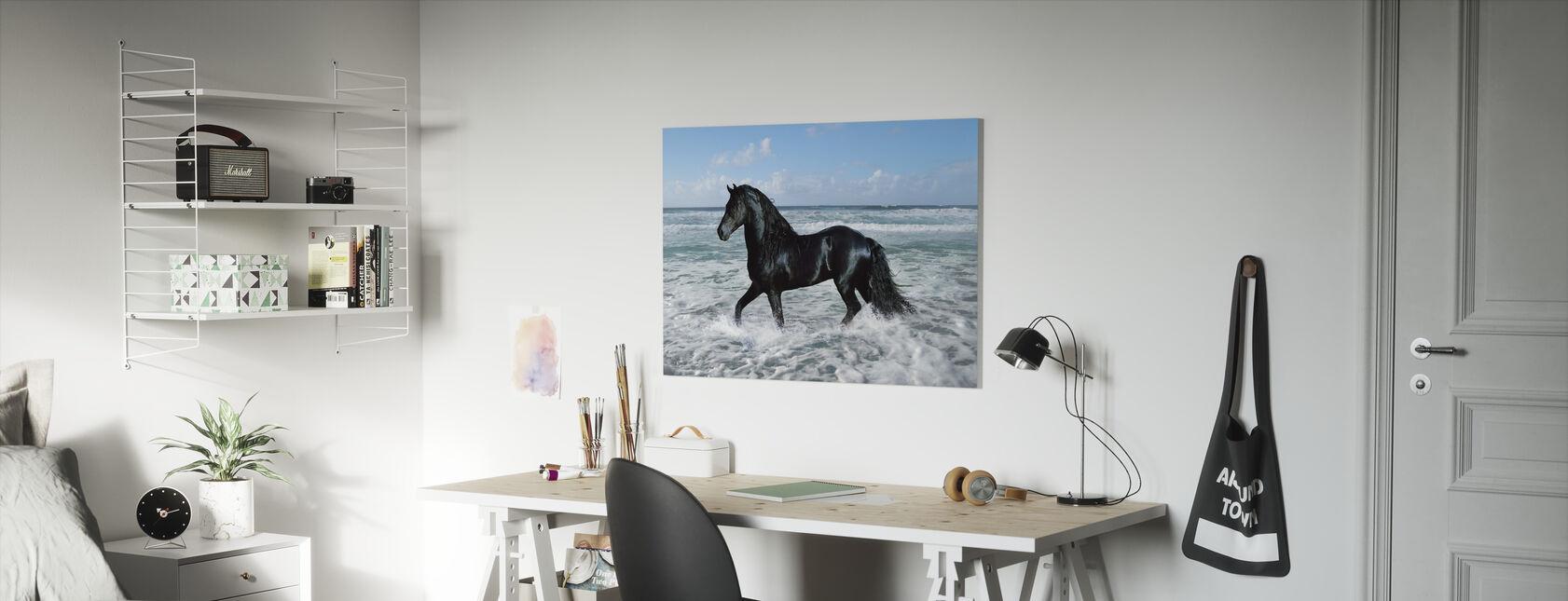 Hest Bading - Lerretsbilde - Barnerom