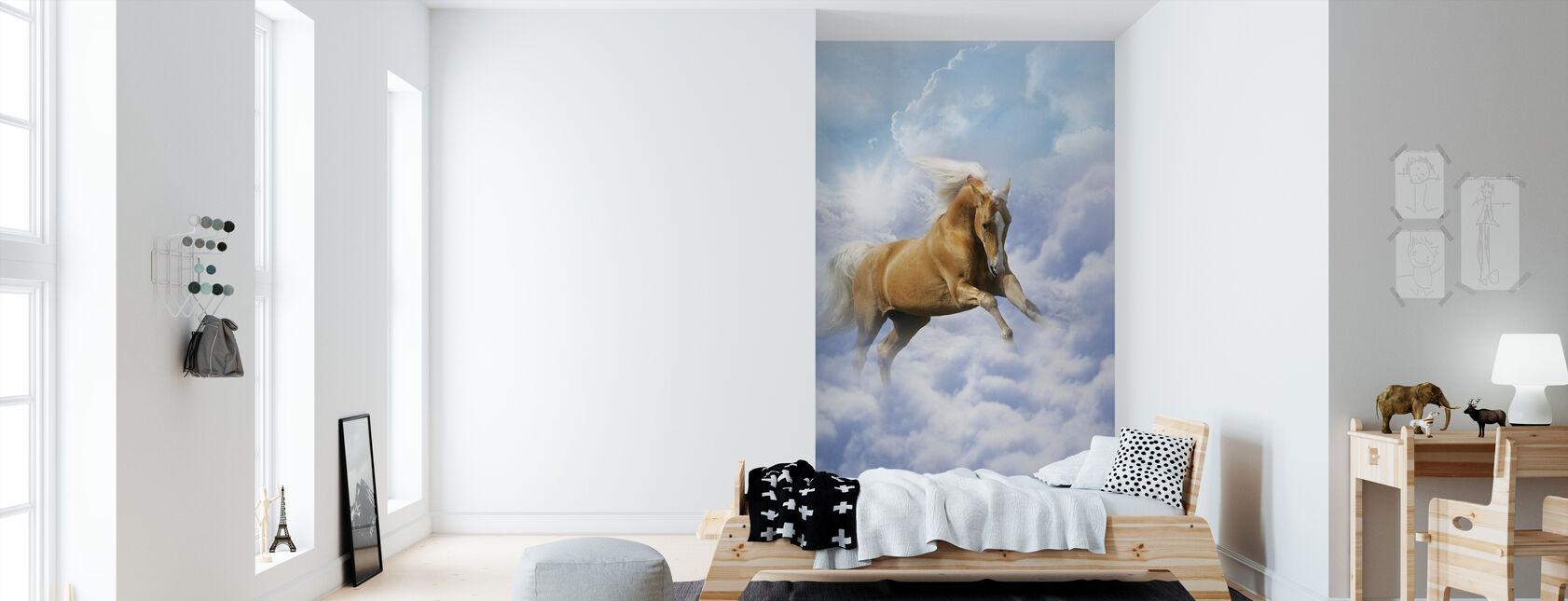 Cloud Horse - Wallpaper - Kids Room