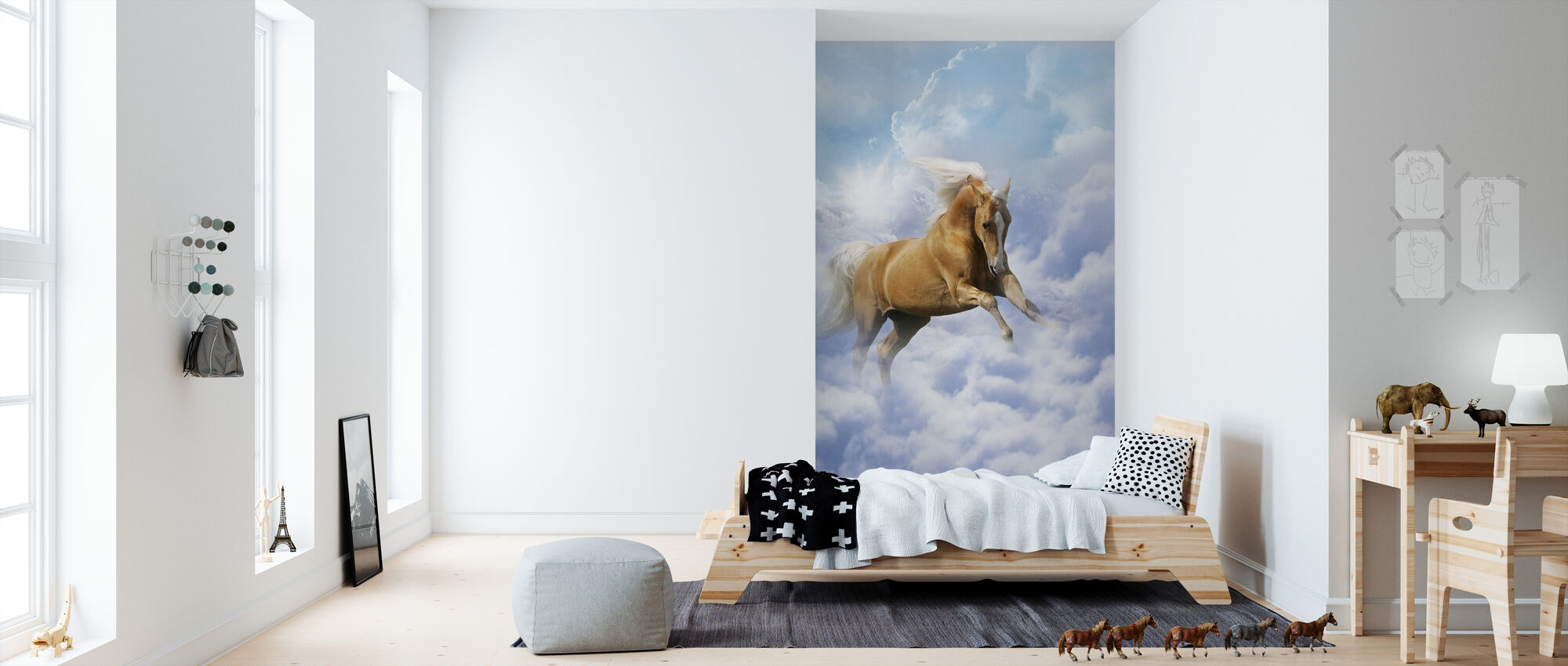 Cloud Horse - Wallpaper - Kids Room