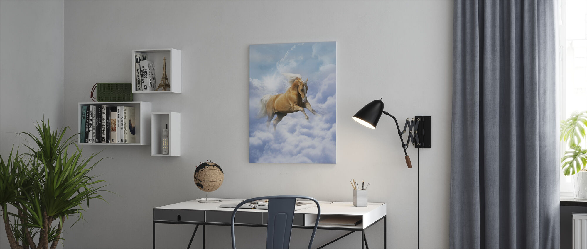 Cloud Horse - Canvas print - Office