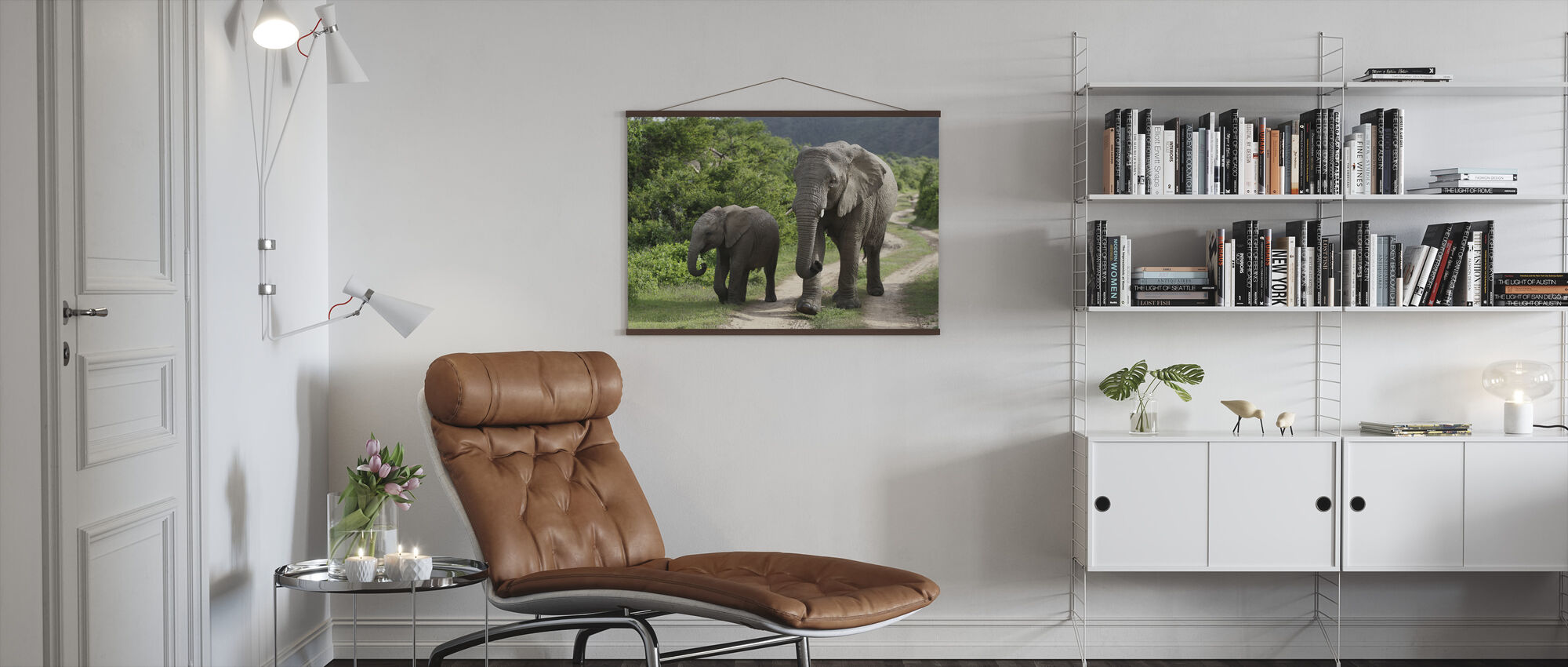 Elephant Baby and Mother_ - Poster - Living Room