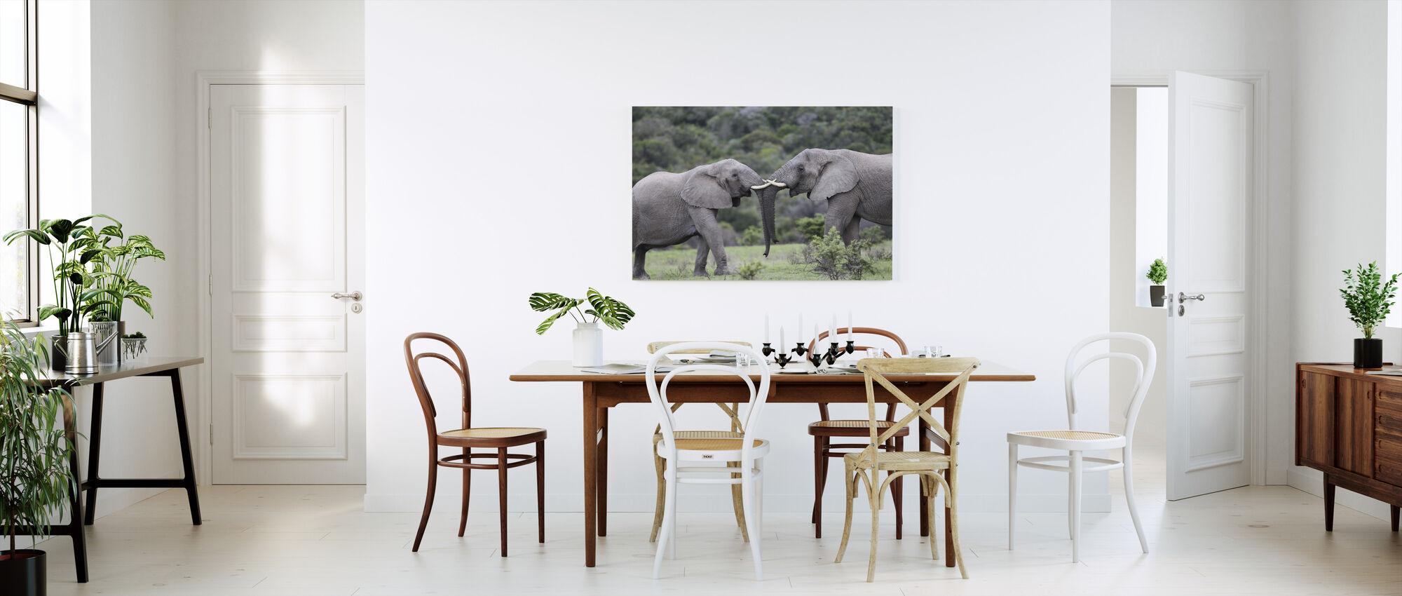 Olifant Knuffel - Canvas print - Keuken