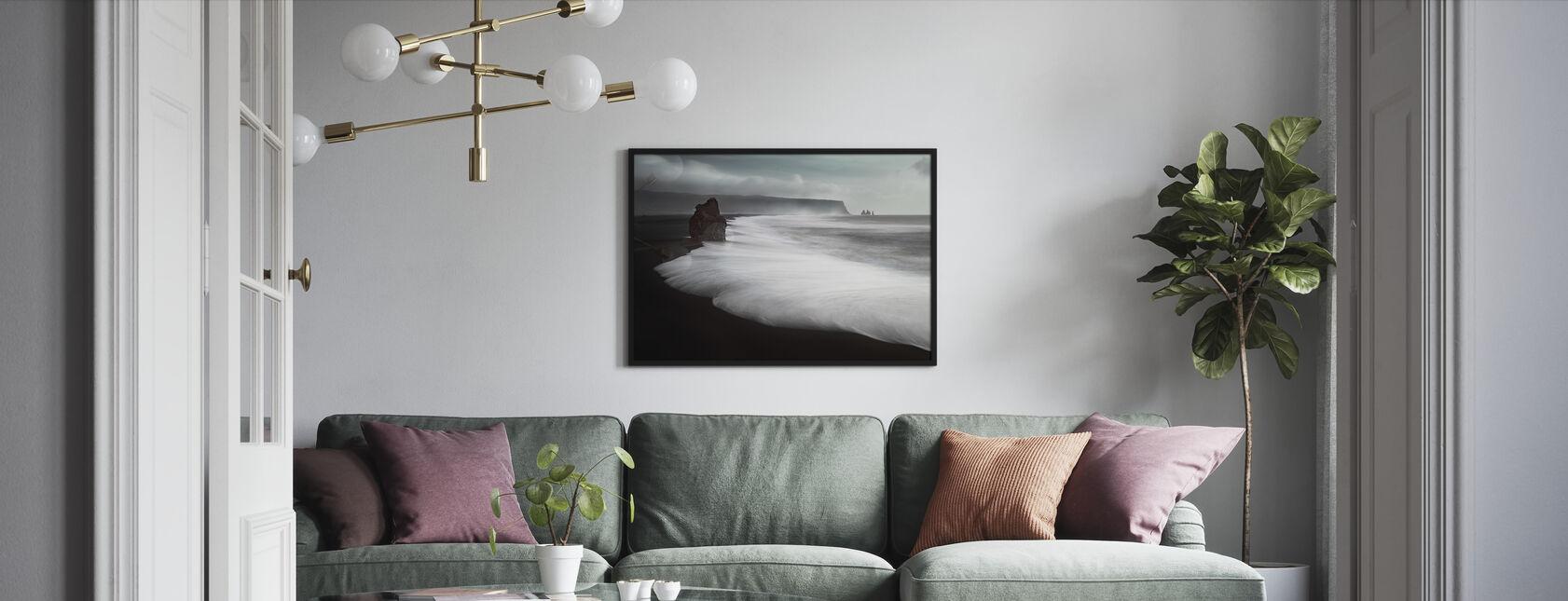 Den svarte stranden - Innrammet bilde - Stue