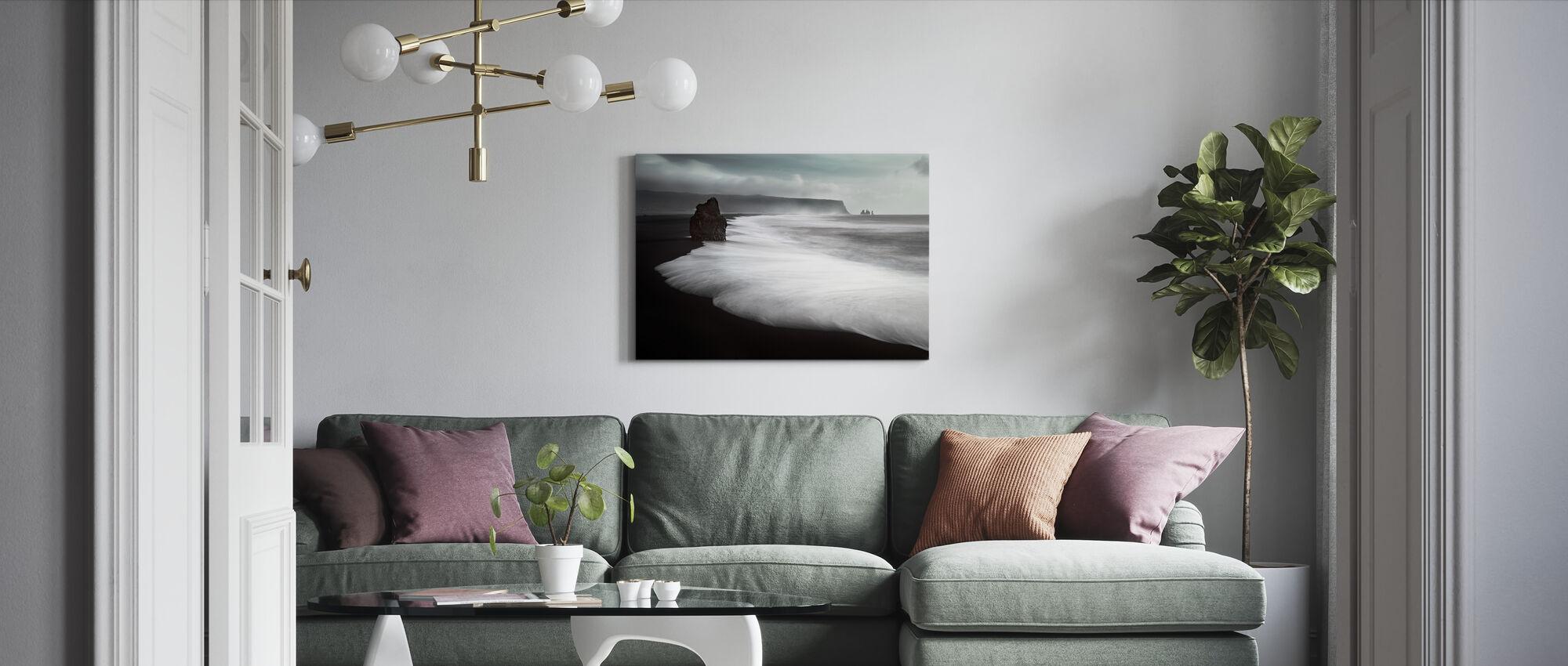 The Black Beach - Canvas print - Living Room