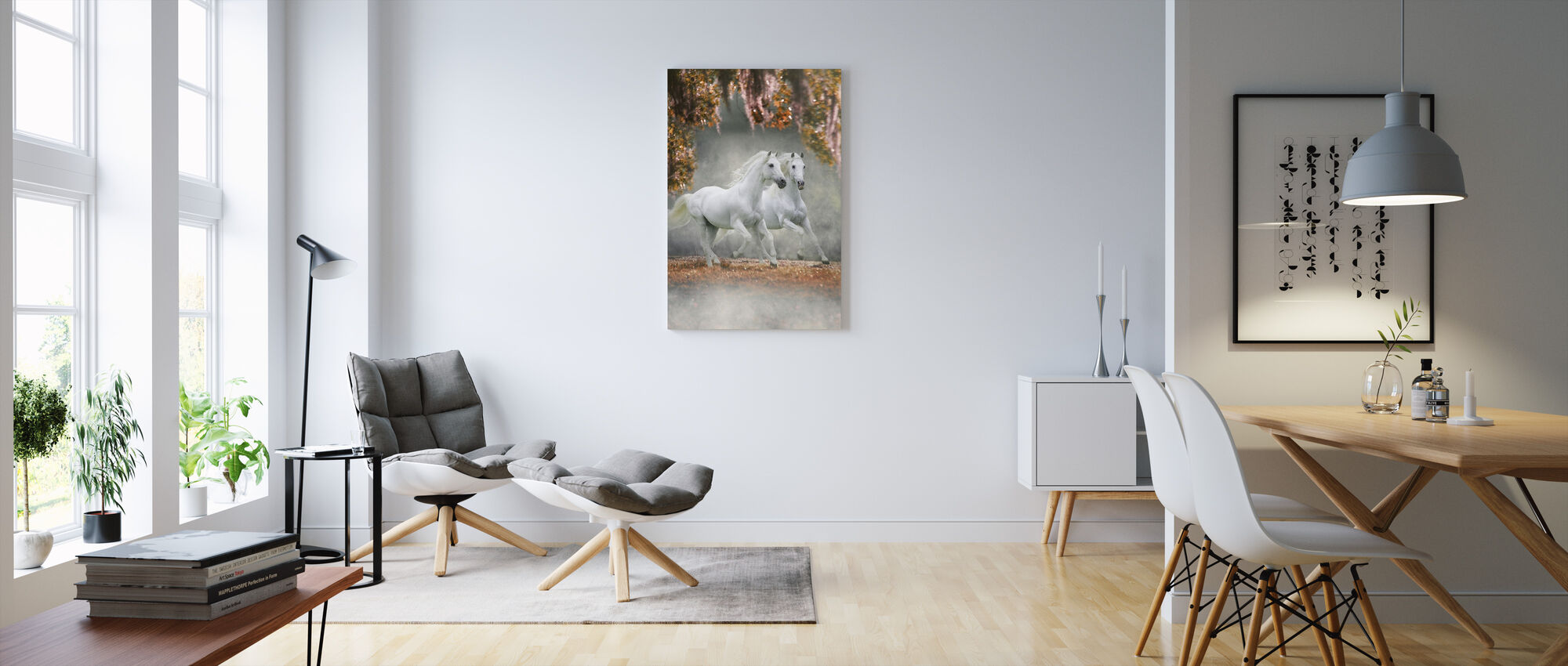 Enchanted Horses - Canvas print - Living Room